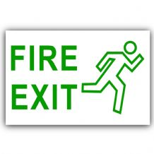 1 x Fire Exit Sticker-Self Adhesive Door,Office,External Window Safety Sign-Health and Safety